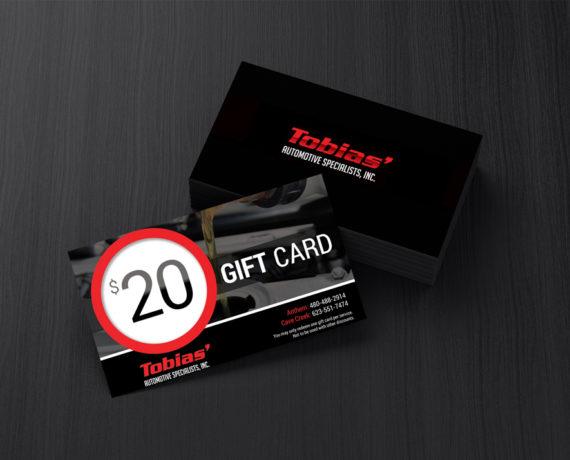 Tobias Automotive Gift Cards