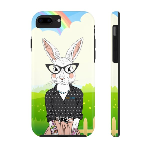 Hipster Bunny Phone Cases – iPhone 7, iPhone 8 Tough