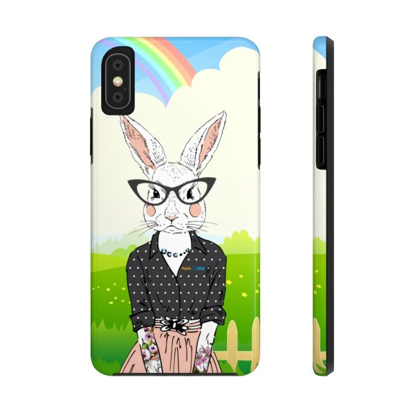 Hipster Bunny Phone Cases – iPhone X Tough